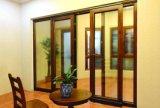 Europen Style porte d'entrée du bois à revêtement aluminium