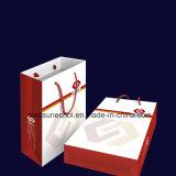 싼 주문 Kraft 종이는 로고에 의하여 인쇄된 포장 서류상 선물 부대를 도매한다