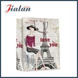 Штейновый прокатанный мешок подарка покупкы башни Effiel бумаги цвета слоновой кости бумажный