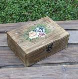 Viereck Customzied hölzerner Tee schachtelt hölzernen Kasten mit 9 Abteilungen