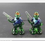 Blaue Gott-Gott-Schildkröte, die Glaswasser-Rohr-Filter-Tabak formt