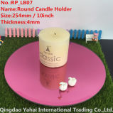 4mm Large Bevel Pink Glass Mirror Candle Holder