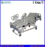 Bâti d'hôpital électrique réglable multifonctionnel soignant avec le longeron latéral en plastique