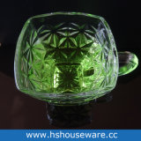 正方形の明確なガラスコーヒー・マグのコーヒーカップ