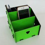 Organizzatore del supporto della penna dello scrittorio di DIY con i cassetti ed i multi divisori