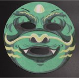 Máscaras faciais bricolage impresso de design
