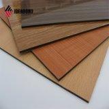 Armario de pared de madera La madera y vetas de madera Panel Compuesto de Aluminio (AE-303)