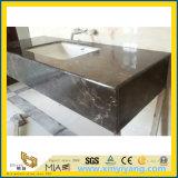 中国浴室、台所のための暗いEmperadorの大理石の虚栄心の上