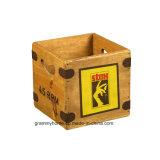 """Caixa Gravar 7"""" único de vinil Engradado de madeira Vintage Registros Stax R&B Norte da Alma"""
