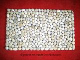 Decoração porta tapete do piso em pedra de seixos naturais