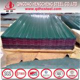 Hoja revestida del material para techos del color largo del palmo para el azulejo de azotea