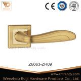 Позолоченный цинк Zamak ручку двери с квадратным закрывается (Z6063-ZR09)