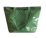 完全なプリント綿のラミネーションの緑色の女性の買物客浜袋