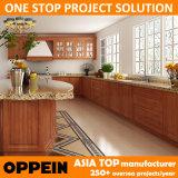 Gabinetes de cozinha feitos sob encomenda da casa de campo do PVC do projeto de Oppein (OP14-PVC09)