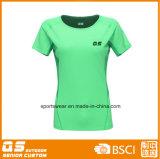 T-shirt à séchage rapide de Wicking de l'humidité des femmes