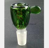 Mâle de narguilé en verre vert 14.5mm, accessoire en verre de 18.8mm
