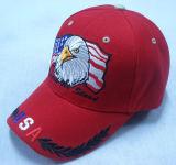 Gorra de béisbol roja de la manera con la insignia grande Bb1024