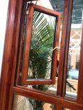 Openslaand raam van het Aluminium van de Kleur van de Druk van het gehele Lichaam het Houten met het Net van de Veiligheid