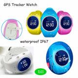 GPS van de Jonge geitjes van de pedometer het Waterdichte Horloge van de Drijver voor Gift D11