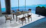 Rattan tecido de venda quente ao ar livre Using a mobília do jardim que janta a cadeira & a tabela para 8-10person (YTA581&YTD020-4)