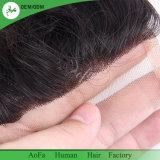 Extension de cheveux humains vierges Fournisseurs en gros la fermeture de la Dentelle Suisse