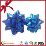 結婚式の装飾のための青い染まる星の弓リボン