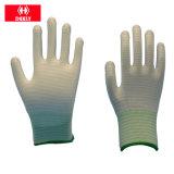 13 ладони PU волокна углерода датчика перчатки Nylon противостатических Coated с ISO9001