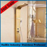 El panel europeo de lujo de la ducha de la aleación de aluminio de la cascada y del canalón del estilo con el aerador