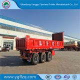 De nieuwe Semi Aanhangwagen van de Vrachtwagen van de Kipwagen van het Koolstofstaal Op zwaar werk berekende Achter met Cilinder Hyva voor Vervoer van het Zand/van de Steen/van de Steenkool