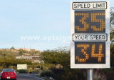 Signe de la zone de l'école numérique à LED clignotante de signes de limite de vitesse