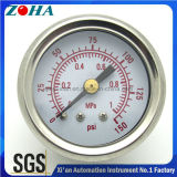 真鍮のConnnectorの低圧Ssのケースの衝撃抵抗の圧力計