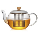De Theepot van het glas met de Maker van de Thee van de Koffie van de Maker van de Thee van het Glas Infuser