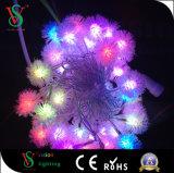 Het kleurrijke LEIDENE Licht van het Koord voor de Decoratie van Kerstmis