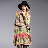 女性の方法印刷デザイン特大編むセーター、モヘアの品質の完全な印刷