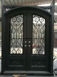 造られた習慣の外部の二重錬鉄の出入口デザイン
