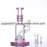 Vidro Rosa de vendas superior do tubo de água de fumar com Perc Ducha de plataformas petrolíferas DAB borbulhador do tubo de água