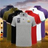 Тенниски гольфа конструкции логоса вышивки поставкы фабрики рубашек пола Гуанчжоу изготовленный на заказ