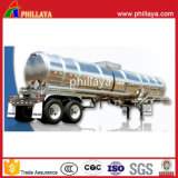 Aço inoxidável tanque de transporte de líquidos químicos Semi Preço do Reboque
