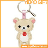 Chaîne de clés en cuir véritable personnalisé pour les dons (YB-LK-06)