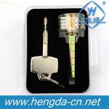 Yh9293 Novo Modelo Fechaduras clara transparente para a prática do bloqueio de fechaduras de Especialidade