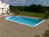Kundenspezifischer Bodenbelag der Balkon-Patio-Swimmingpool-hölzerner Plastikzusammensetzung-WPC