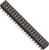 conetor fêmea dobro da fileira SMT de 1.27mm