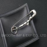 Fashion Wholesale Custom Metal Safety Pin Brooch Shawl Lapel