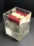 Коробки цветка ясности изготовления фабрики коробка Rose акриловой акриловая с 9 розами PCS