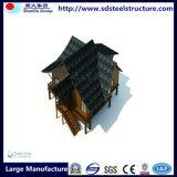 Famouseデザイナー容易なアセンブルされた鉄骨構造のプレハブの移動式家