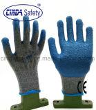 Handschoenen van de Kreuk van de Arbeid van de bouw de Beschermende Latex Met een laag bedekte