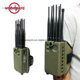 Ajustable de alimentación móvil VHF VHF, señal de GPS WiFi rompedor, 10 de mano de la antena Lojack/WiFi/4G/GPS/VHF/UHF Jammer, Teléfono móvil de aislamiento de la señal Jammer/ /Breaker