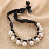 こんにちは終りViviの女性のための大きい模造真珠のラインストーンのネックレス