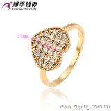 Venta caliente Xuping manera de las mujeres de 18 quilates chapado en oro joyería de imitación del anillo del cristal romántica en aleación de cobre -12968