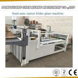 Dépliant Semi-Automatique Gluer de carton
